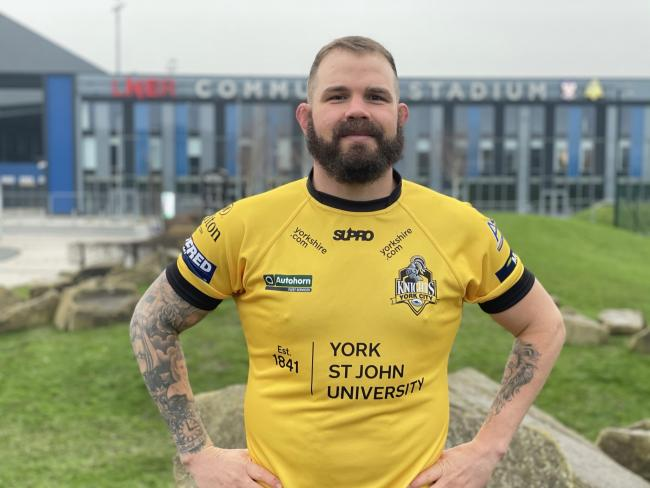 York City Knights' new recruit Adam Cuthbertson. Picture: York City Knights