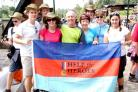 """Team Hatton"" at Machame gate at the start of the trek, and though  altitude  sickness had a severe effect on its members nothing could  prevent the family and friends of Matthew Hatton, inset, from  climbing to the summit of Mount Kilimanjaro"