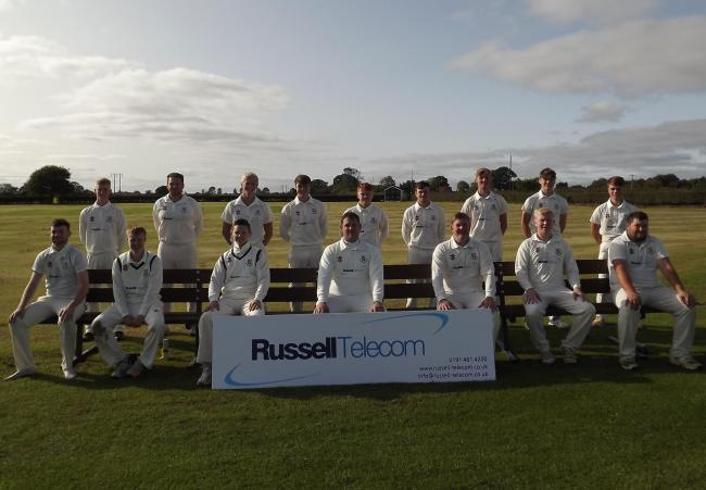 The youthful Woodhouse Grange side from the final game of the 2020 season, with captain James Finch front and centre