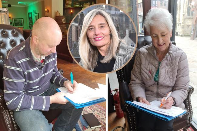 Founding directors of York Retail Forward, Sarah Czarnecki, centre, Phil Pinder and Judy Illing, have signed the documents to register the new community interest company with Companies House