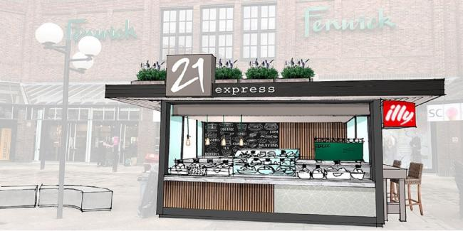 What the new 21 Express cafe will look like at Fenwick York