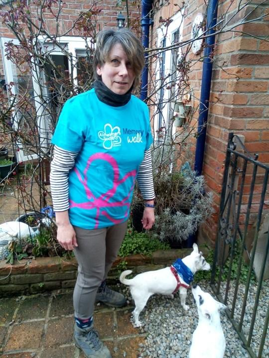 Fiona Scarce has taken on the walking challenge to support the Alzheimer's Society in her dad's memory