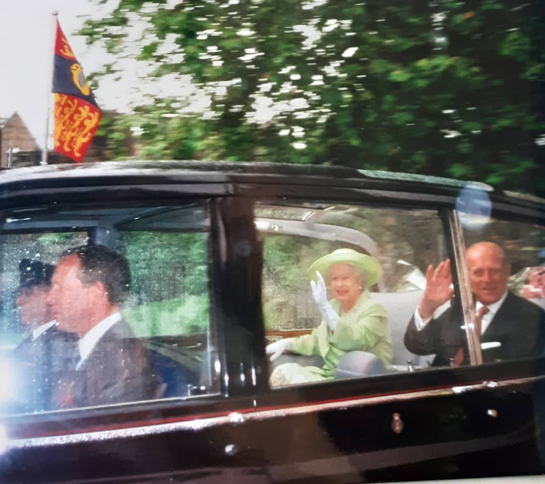 York Press: The royal party drive into the Museum Gardens in 2000