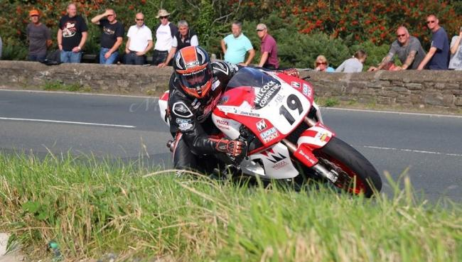 Joey Thompson in action on the Isle of Man in 2019. Picture: Nick Wheeler