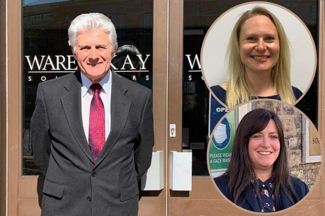 Ian Fisher is retiring after 52 years with Ware & Kay which has welcomed Gemma Foster, above right, and Tracie Middleton into the firm.