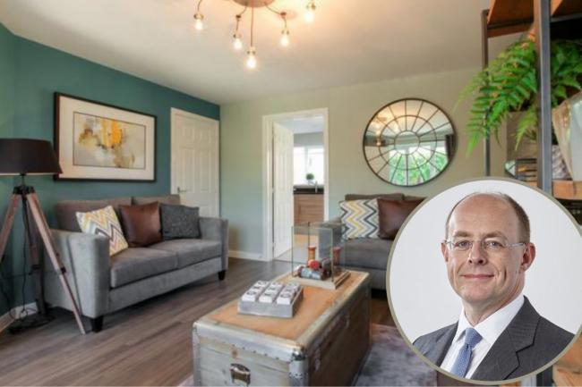 Dean Finch, Group chief executive of York-based housebuilder Persimmon which has recorded a strong start to 2021. Picture: A Persimmon home at Germany Beck in York.