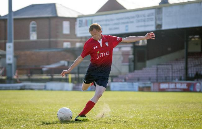 Rob Lee takes a swing during the 'Farewell, Bootham Crescent' supporters' play-on-the-pitch match. Picture: Ian Parker