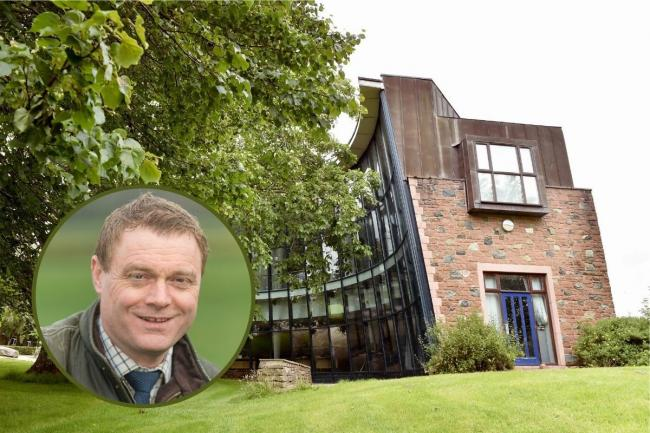 Newton Rigg, which Askham Bryan College is putting on the market today and (inset) Tim Whitaker, the Principal and CEO of Askham Bryan College