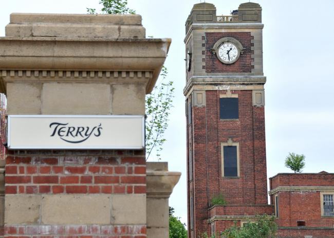 The clocktower at the former Terry's chocolate factory site. Picture David Harrison