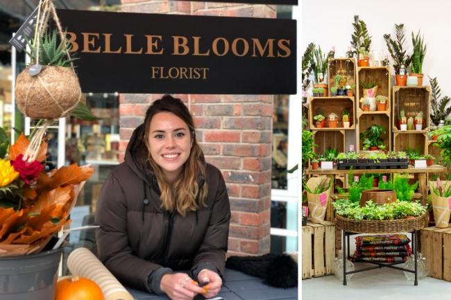 Laura Newby, of Belle Blooms, has branched out with a new permanent base in Fenwick, York.