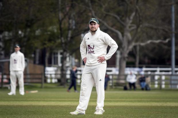 Clifton Alliance bowler David Friend, who made early inroads into Dunnington's top order with three early wickets. Picture: Ian Parker