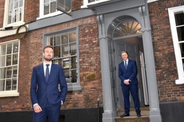 York Press: The Lancaster Samms office pictured in 2017 with Charlie Lancaster, front. Picture: Frank Dwyer.