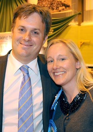 York Outer seat's winning Conservative candidate Julian Sturdy and his wife Victoria
