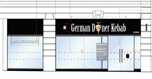 York Press: Künstlerische Darstellung einer Ladenfront in Piccadilly