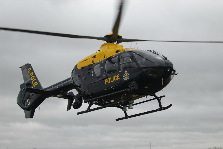 Police helicopter and dogs join search for missing person in York