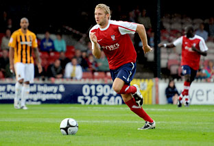 York City midfielder Chris Carruthers scored a spectacular goal at Market Drayton last night