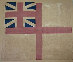 The Amherst flag after it has been restored