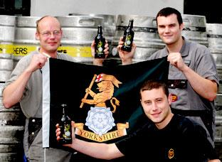 Cropton brewery staff launch Yorkshire Warrior in 2008
