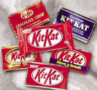 KitKat wrappers down the years