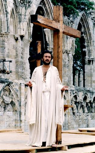 Victor Bannerjee appearing in the York Mystery Plays in 1988