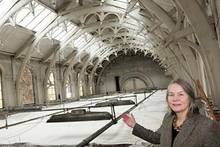 "Janet Barnes, chief executive of York Museums Trust, with the ""secret gallery"""