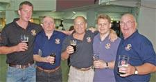 The York Brewery team celebrates its gold medal at the Great British Beer Festival. From left, Nick Webster, John Buckle, Tony Thomson, Andrew Whalley and Bill Embleton