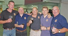 The York Brewery team celebrates its gold medal at the Great British Beer Festival. From left, Nick We