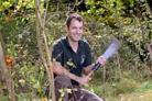 John Mayo will be living rough for a week in woodland near York to raise funds for Children In Need