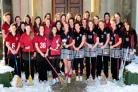 The Queen Margaret's  lacrosse teams