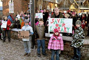 Best-selling author Mike Pannett joins the protest against the proposed closure of Easingwold Library