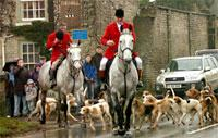 The Derwent Hunt sets off from The Hall, in Thornton-le-Dale.