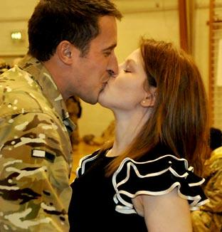 Lance Corporal Simon Poole and Charlotte Billam