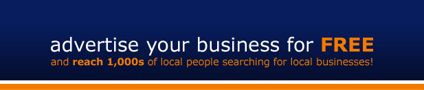 Advertise your business for free and reach 1,000s of local people searching for local businesses!
