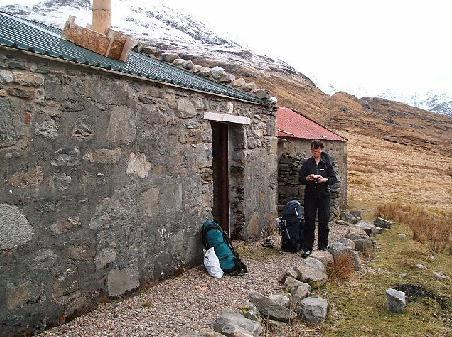 Arriving at Maggoos Bothy