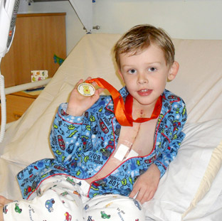 Cameron Scott, who was saved by a vital operation