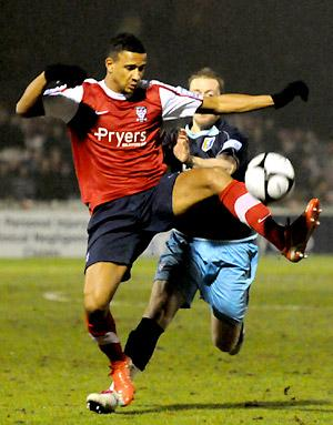 James Meredith snuffs out a Stags' attack