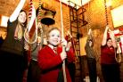 Young bell-ringers from St Lawrence's Church