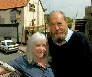 Tim and Val Everton when they took over The Phoenix freehouse pub in George Street, York in June 2009