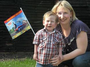 Little Alfie Oliver, with his mum Tracey, is really excited about to his trip to see Thomas The Tank Engine later this month