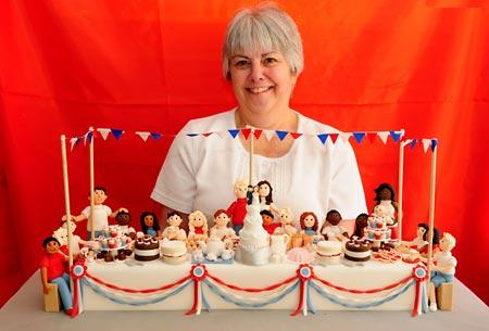 Sylvia Ross, of Imaginative Icing in Lendal, York, and their royal wedding cake
