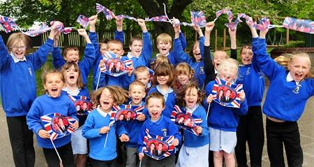 Luttons Primary School pupils get ready for their Royal Wedding Street Party