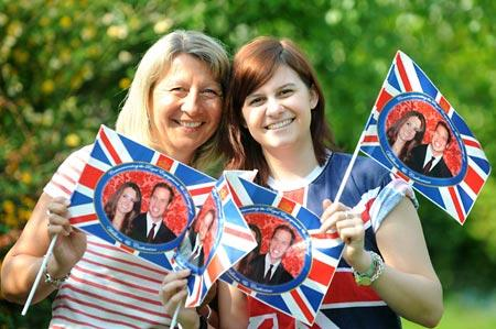 Ann and Chloe McLaren who will cheer on William and Kate in London