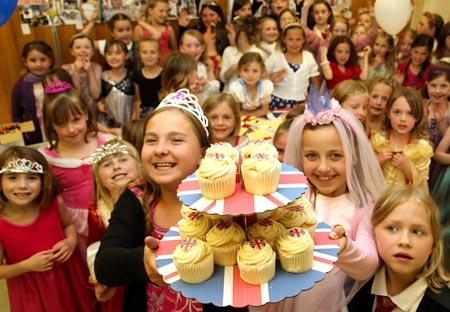 Girls from Copmanthorpe Brownies and Guides have a royal celebration at Companthorpe Methodist Church