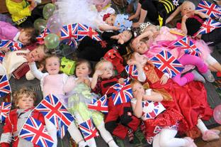 Rillington playgroup fancy dress royal party.