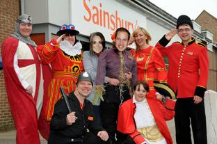 Staff at Sainsburys in Haxby got dressed up for the Royal Wedding