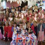 York Press: Osbaldwick & Murton Brownie pack enjoy their royal wedding party, complete with knitted figures of the royal family