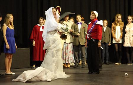 Queen Margaret's School royal wedding fashion show.             Picture: Katherine Batchelor
