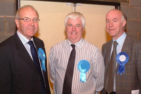 Newly elected at Selby: Ian Reynolds, David Peart and Michael Dyson