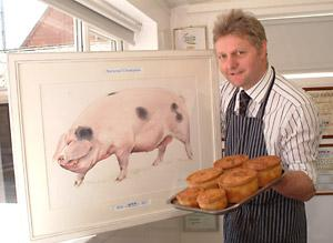 Family butcher David Mounfield's traditional pork pie has been named the best in the country in a national competition