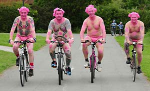 Cyclists bare all for World Naked Bike Ride